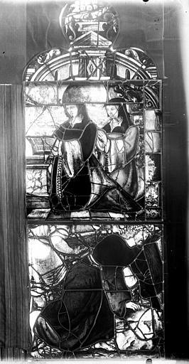 Vitrail, fenêtre C, quatrième lancette à gauche, panneau supérieur