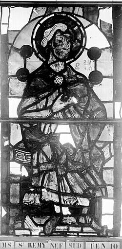 Vitrail, nef côté sud, dixième fenêtre