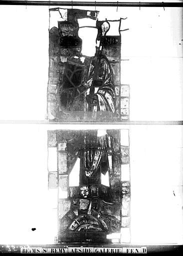 Vitrail, abside, galerie, fenêtre D