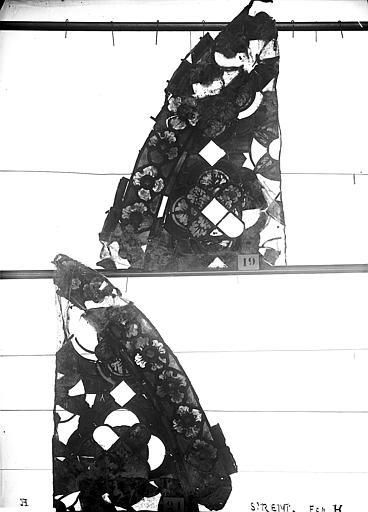 Vitrail, abside, galerie, fenêtre H