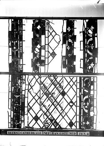 Vitrail, bas-côté sud, débris, quatrième fenêtre