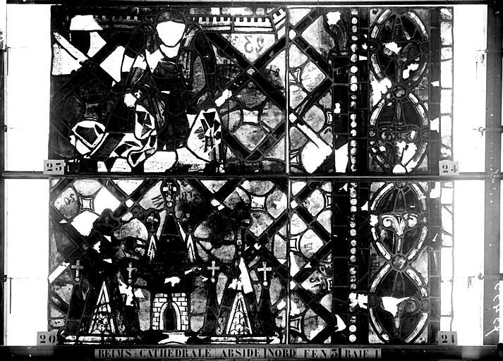 Vitrail, abside côté nord, troisième fenêtre, rose