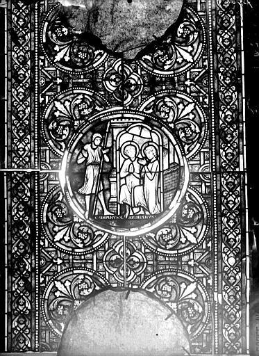 Vitrail, verrière de saint Crépin et saint Crépinien, cinquième panneau