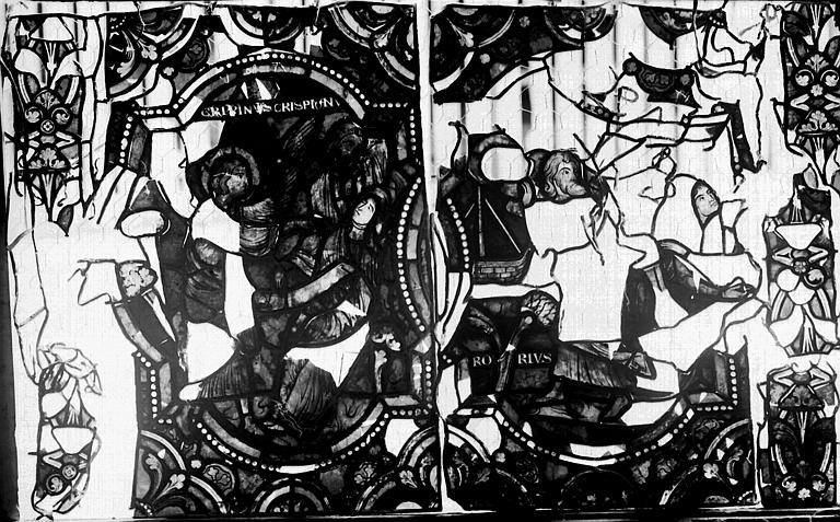 Vitrail, verrière de saint Crépin et saint Crépinien, septième panneau