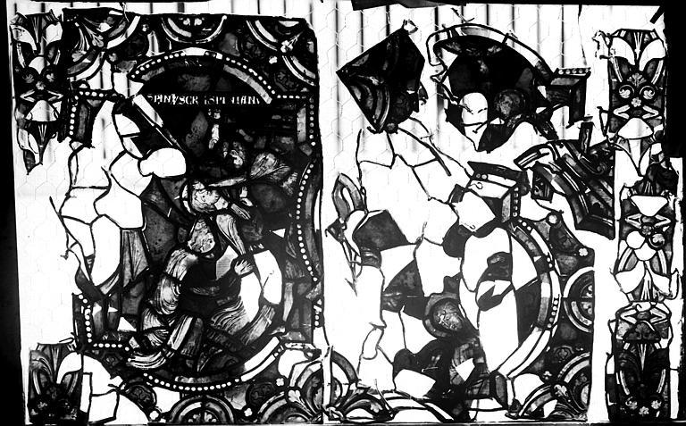 Vitrail, verrière de saint Crépin et saint Crépinien, huitième panneau