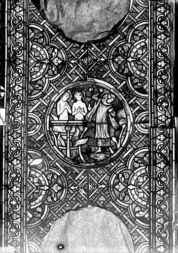 Vitrail, verrière de saint Crépin et saint Crépinien, sixième panneau