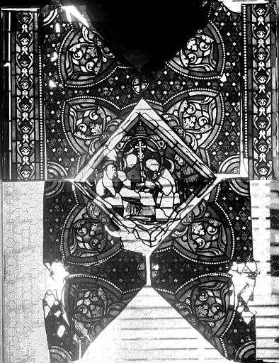 Vitrail, verrière de saint Gilles, cinquième panneau