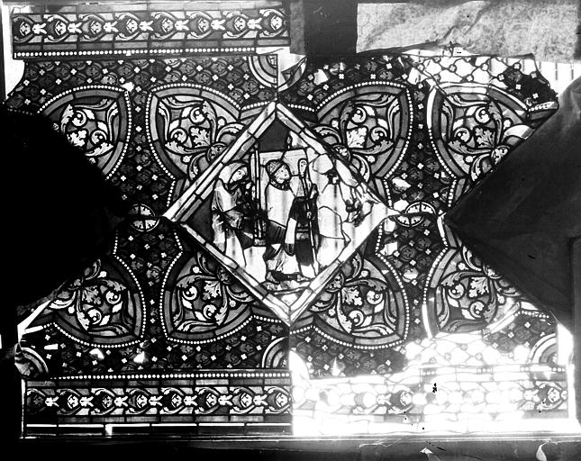 Vitrail, verrière de saint Gilles, septième panneau