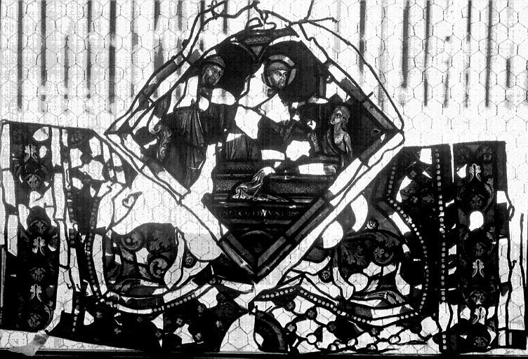 Vitrail, verrière de saint Gilles, huitième panneau