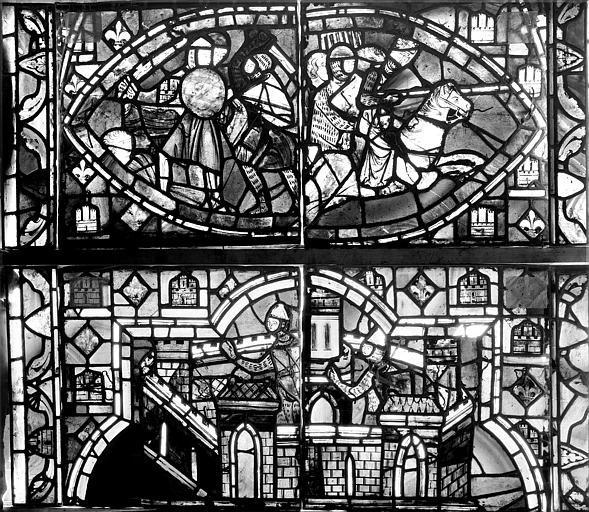 Vitrail, verrière de Judith, deuxième panneau