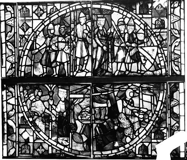 Vitrail, verrière de Judith, cinquième panneau