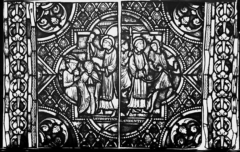 Vitrail, verrière de saint Laurent, deuxième panneau