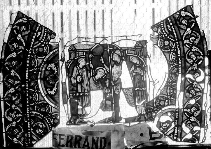 Vitrail, verrière de saint-Sexte et saint-Sinice, deuxième panneau