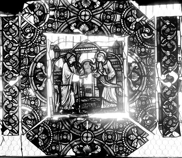 Vitrail, verrière de saint-Sexte et saint-Sinice, sixième panneau