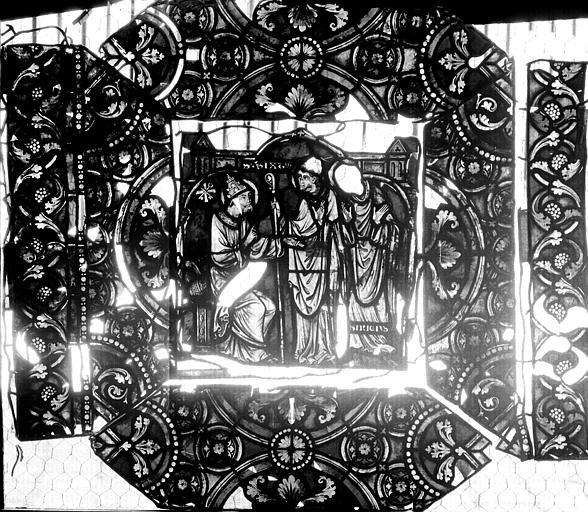 Vitrail, verrière de saint-Sexte et saint-Sinice, huitième panneau