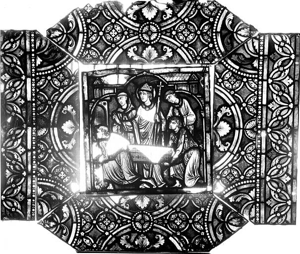 Vitrail, verrière de saint-Sexte et saint-Sinice, septième panneau