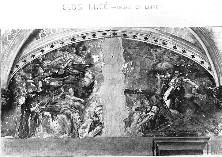 Peinture murale, d'après le relevé des Archives
