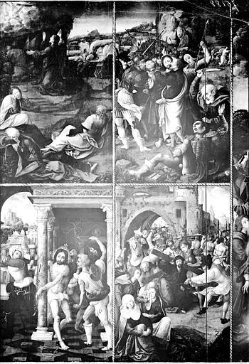 Panneau peint de La Passion, partie gauche