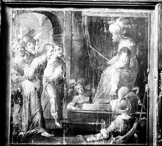 Chapelle Dorée ou de Scarron, panneau peint, Jésus devant Ponce Pilate