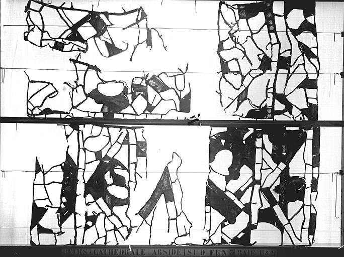 Vitrail, abside sud, troisième fenêtre, baie 1