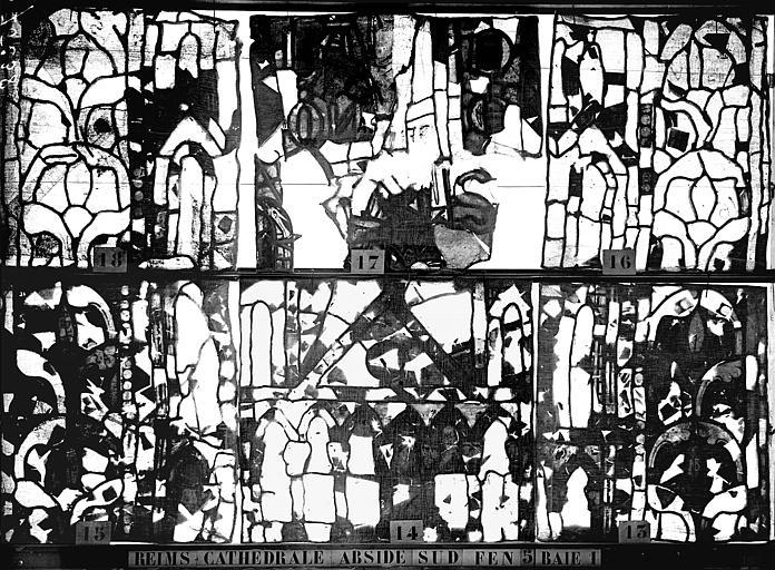 Vitrail, abside sud, cinquième fenêtre, baie 1