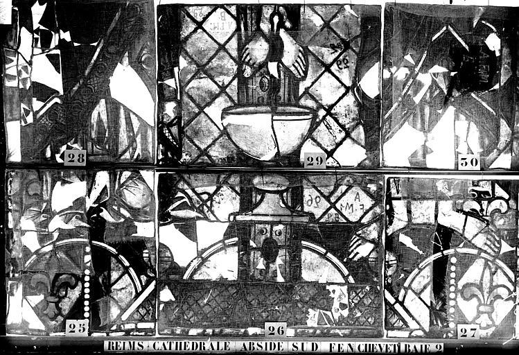 Vitrail, abside sud, fenêtre du chevet, baie