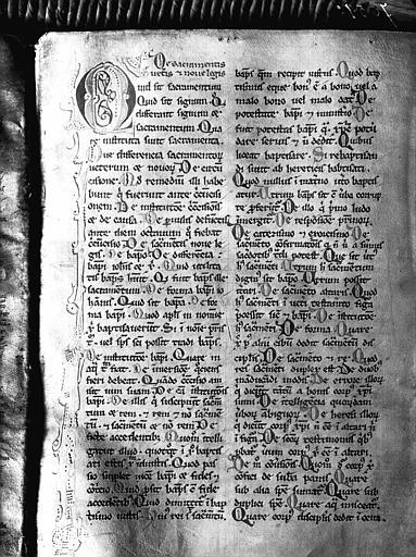 Manuscrit, feuille