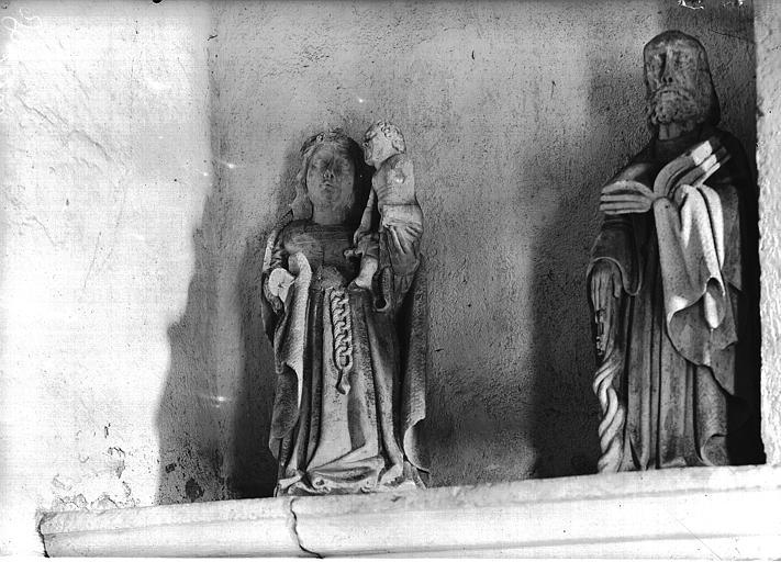 Vierge et l'Enfant et saint