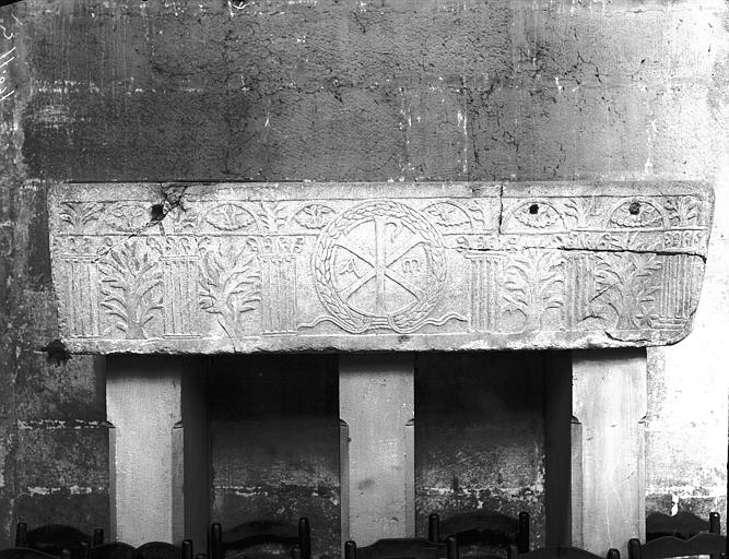 Sarcophage chrétien en marbre blanc