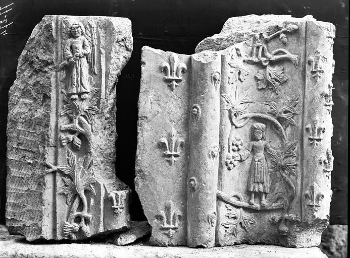 Montants sculptés, saint Michel, fragment