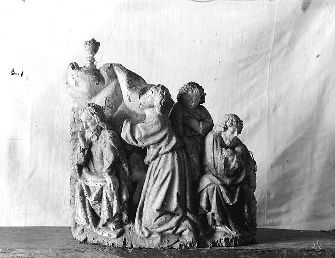 Retable, haut-relief en bois, détail, Le Jardin des Oliviers