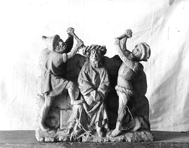 Retable, haut-relief en bois, détail, Ecce Homo