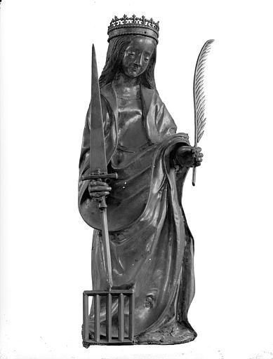 Trésor, petite statue de sainte Foy debout