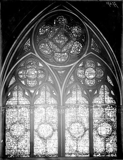 Vitrail, nef, vue du sud, deuxième fenêtre, partie haute
