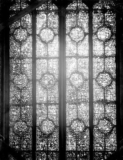 Vitrail, nef, vue du sud, deuxième fenêtre, partie médiane