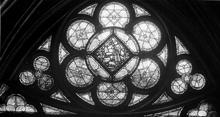 Vitrail, chapelle basse, côté sud, première fenêtre