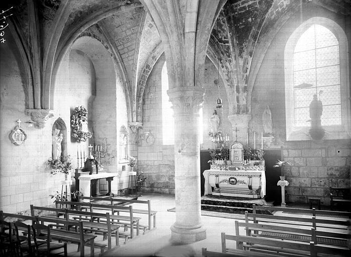 Chapelle, intérieur, vue diagonale