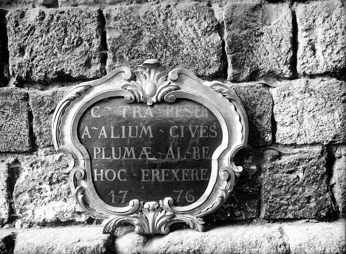 Cadre d'inscription en bois