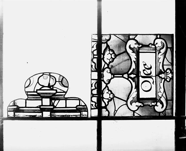 Deuxième galerie, portail sud, lancette d'Osée, Titulus
