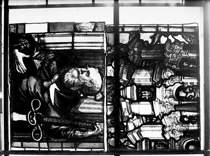 Vitrail, chapelle des morts, lancette de saint Paul