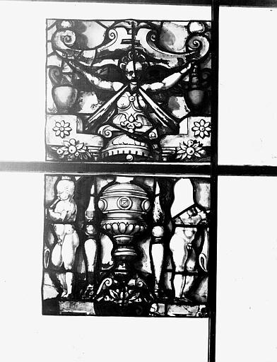 Vitrail, chapelle des morts, lancette de saint Julien