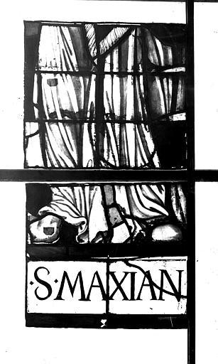 Vitrail, chapelle des morts, lancette de saint Maxian