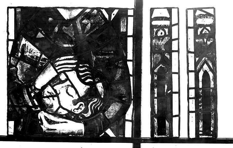 Vitrail, chapelle des morts, lancette de saint décapité