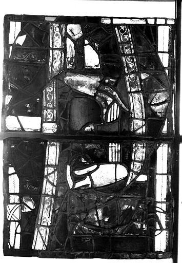 Vitrail, chapelle des morts, lancette de saint Pierre