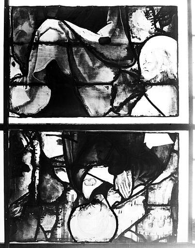Vitrail, chapelle du Sacré-Coeur