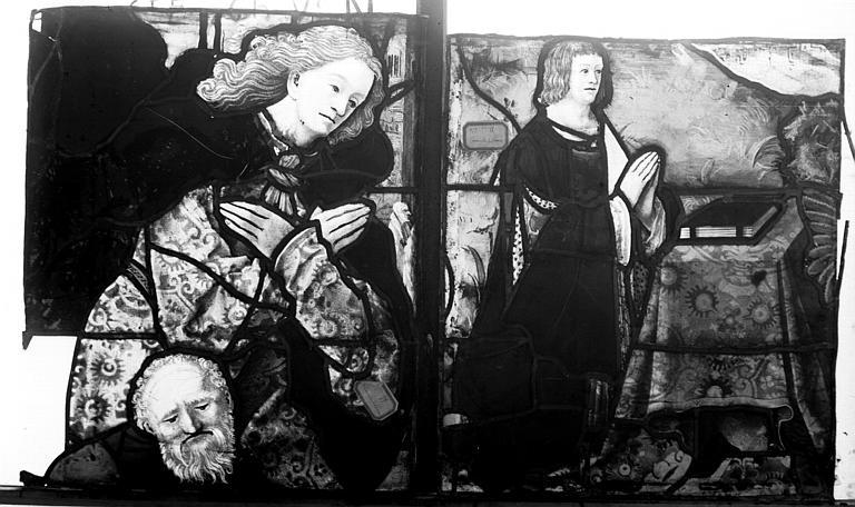 Vitrail, chapelle de la Vierge, La Mise au tombeau du Christ