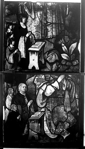 Vitrail, chapelle de la Vierge, La Lapidation de saint Etienne
