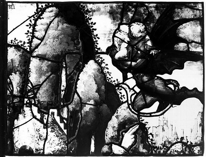 Vitrail de la Fontaine de Vie, premier panneau à gauche