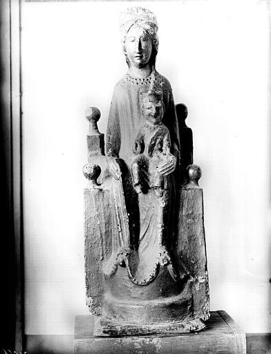 Statuette en bois : Vierge à l'Enfant