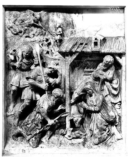 Adoration des bergers. Haut-relief : L'Adoration des bergers